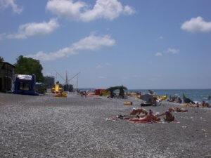 Отдых в Абхазии частный сектор Гагра море пляж