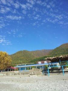 Отдых в Абхазии осенью Гагра пляж