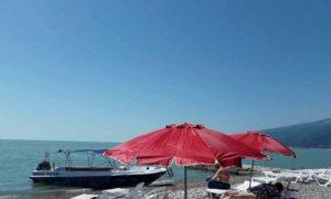 Абхазия Гагра пляж перед домом